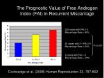 the prognostic value of free androgen index fai in recurrent miscarriage
