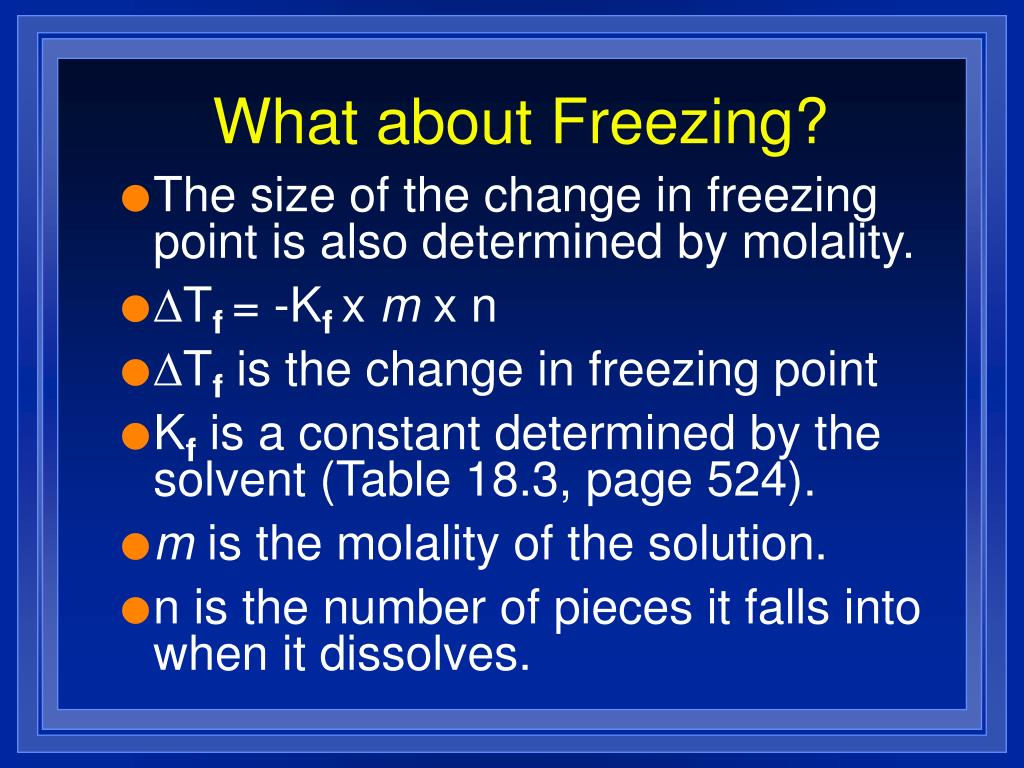 What about Freezing?