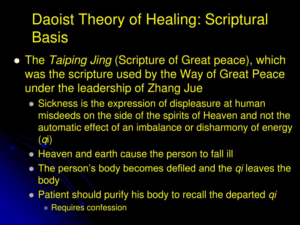 Daoist Theory of Healing: Scriptural Basis