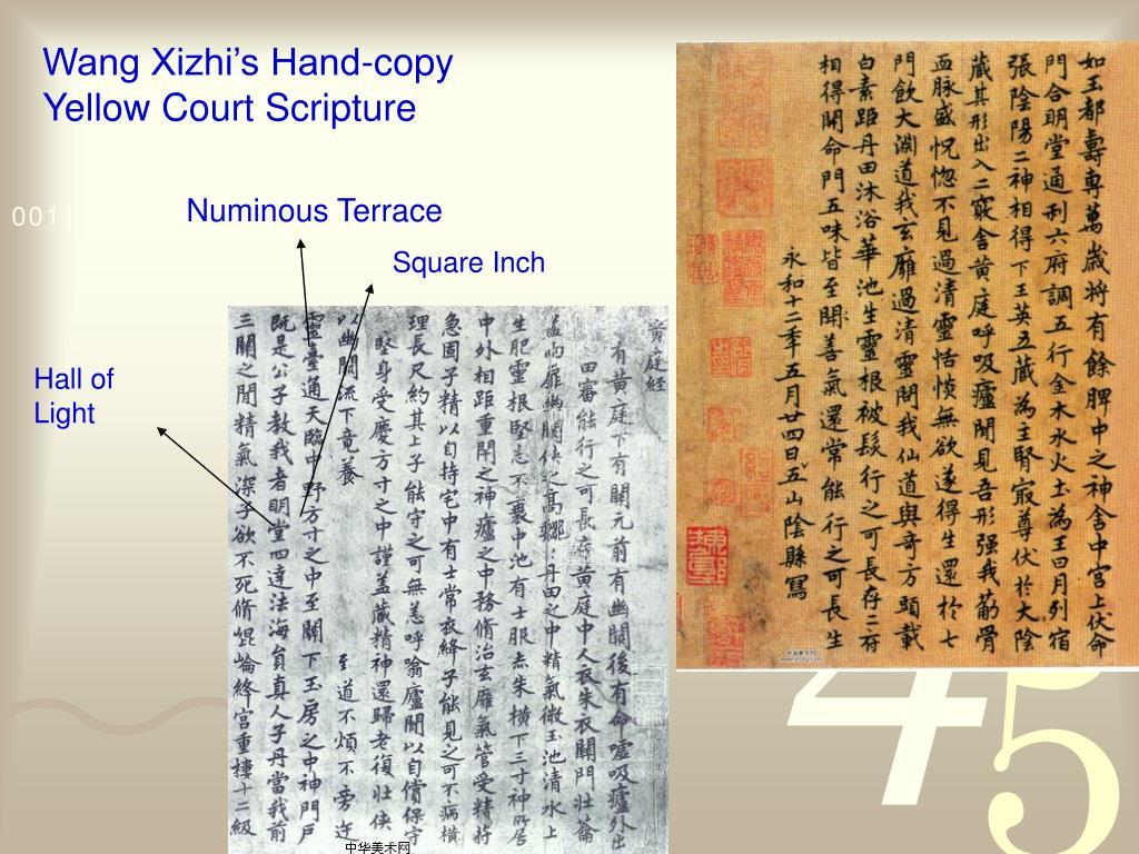 Wang Xizhi's Hand-copy Yellow Court Scripture