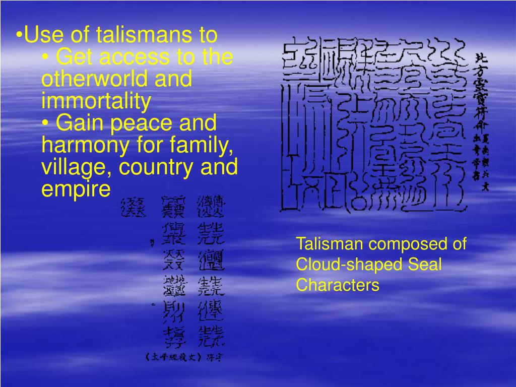 Use of talismans to
