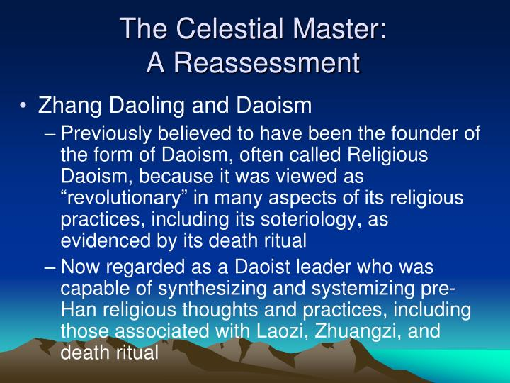 The celestial master a reassessment