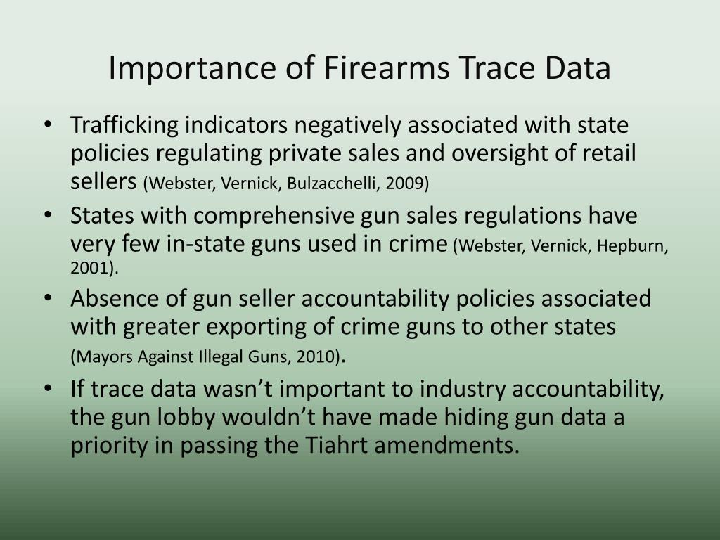 Importance of Firearms Trace Data