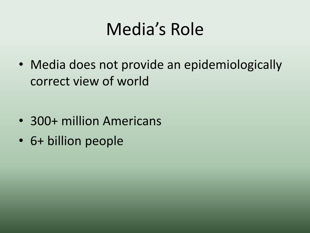 Media's Role