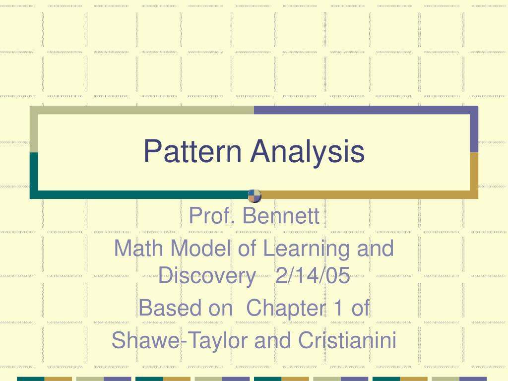pattern analysis l.