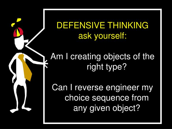 DEFENSIVE THINKING