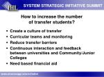 how to increase the number of transfer students