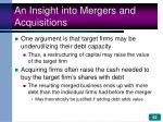 an insight into mergers and acquisitions62