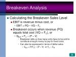breakeven analysis33