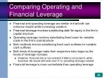 comparing operating and financial leverage