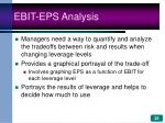 ebit eps analysis