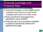 financial leverage and financial risk