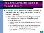including corporate taxes in the mm theory