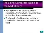 including corporate taxes in the mm theory57