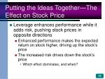 putting the ideas together the effect on stock price
