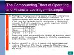 the compounding effect of operating and financial leverage example