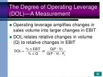 the degree of operating leverage dol a measurement