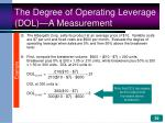 the degree of operating leverage dol a measurement39