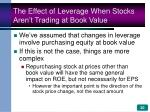 the effect of leverage when stocks aren t trading at book value