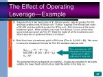 the effect of operating leverage example