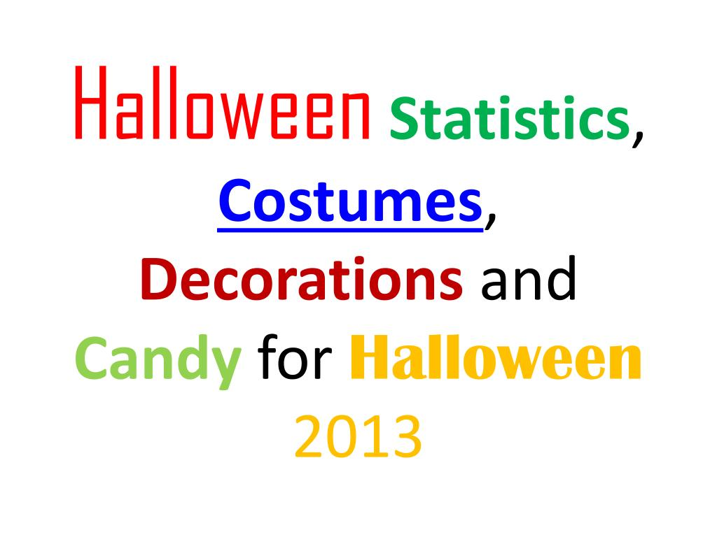 halloween statistics costumes decorations and candy for halloween 2013 l.