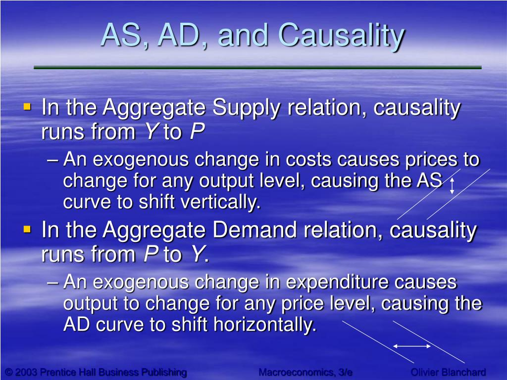 AS, AD, and Causality