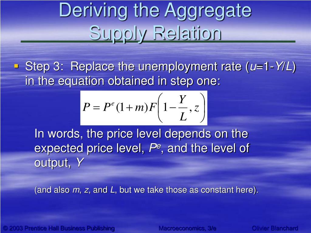 Deriving the Aggregate