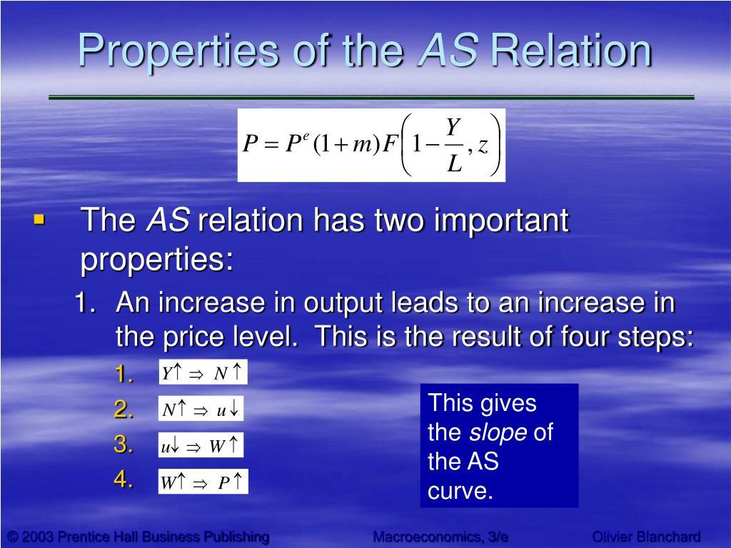 Properties of the