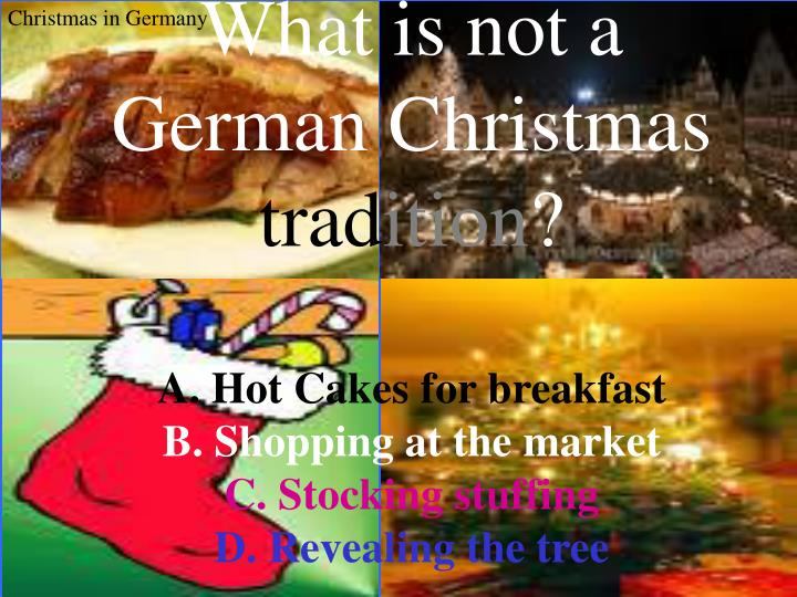 What is not a German Christmas