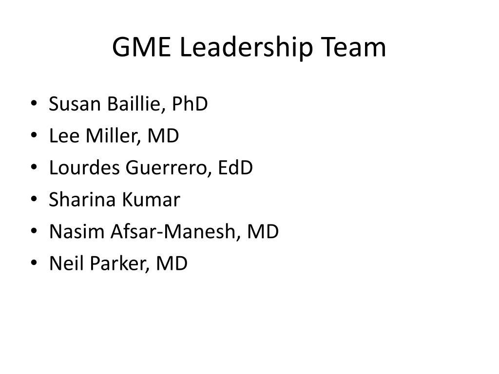 GME Leadership Team