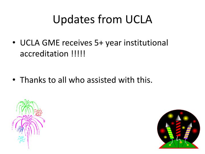 Updates from ucla