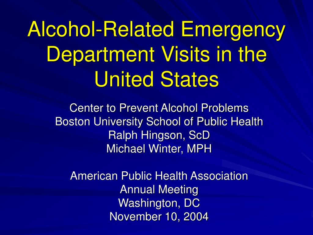 alcohol related emergency department visits in the united states l.