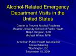 alcohol related emergency department visits in the united states