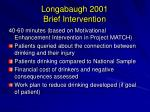 longabaugh 2001 brief intervention