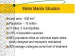 metro manila situation