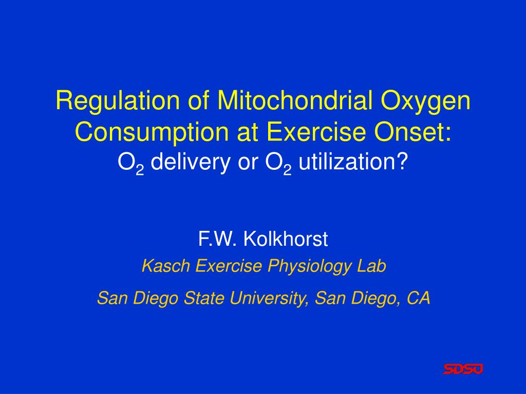 regulation of mitochondrial oxygen consumption at exercise onset o 2 delivery or o 2 utilization l.