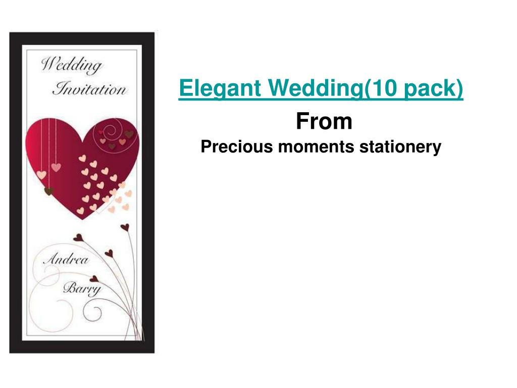elegant wedding 10 pack from precious moments stationery l.