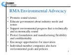 rma environmental advocacy