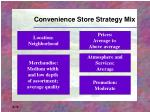 convenience store strategy mix