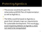 protecting agenda 21