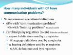how many individuals with cp have communication problems5