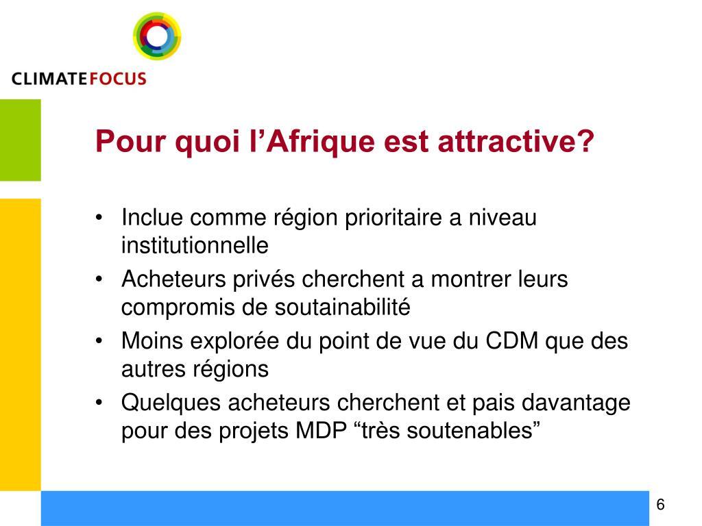 Pour quoi l'Afrique est attractive?