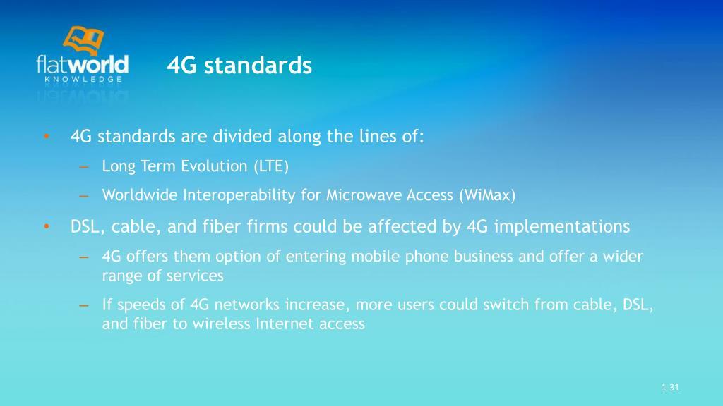 4G standards