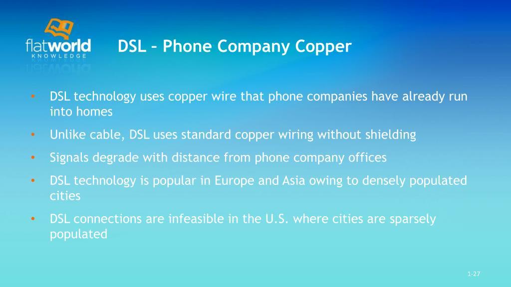 DSL – Phone Company Copper