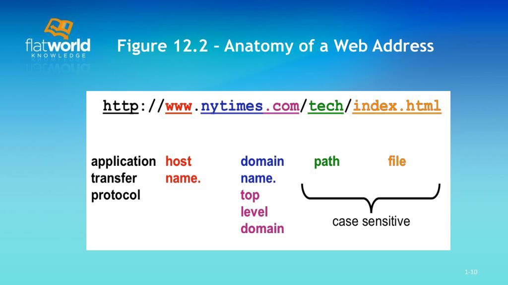 Figure 12.2 – Anatomy of a Web Address