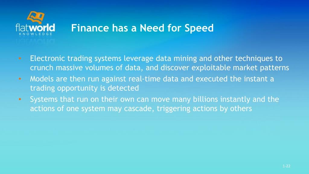 Finance has a Need for Speed