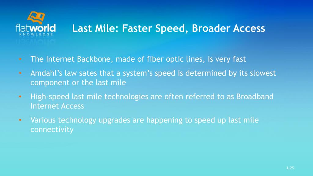 Last Mile: Faster Speed, Broader Access