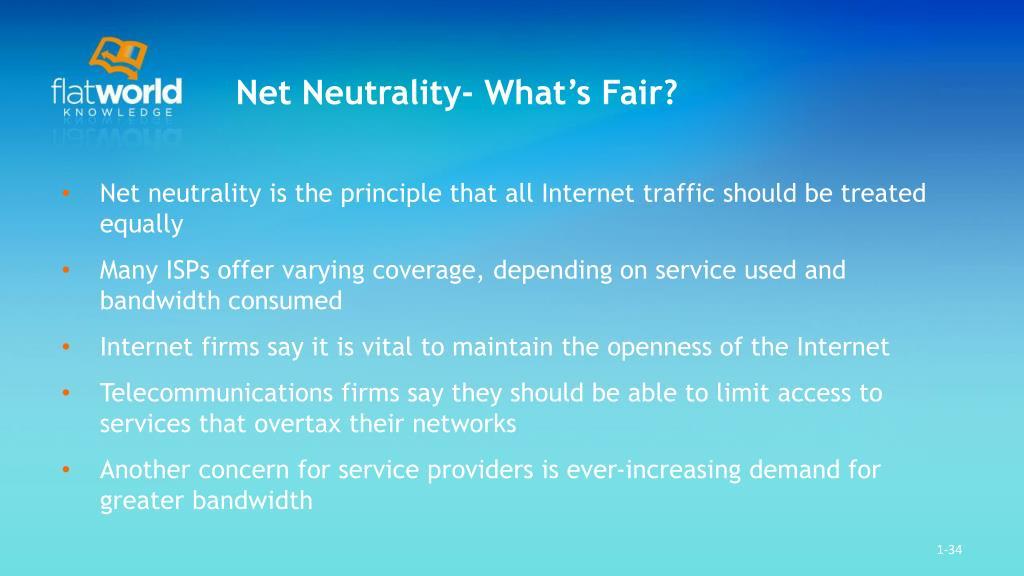 Net Neutrality- What's Fair?