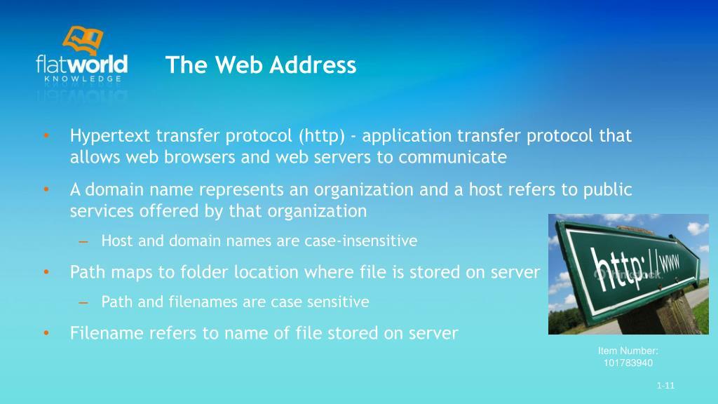 The Web Address