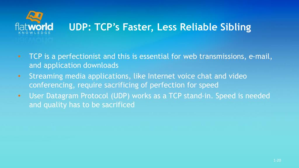 UDP: TCP's Faster, Less Reliable Sibling